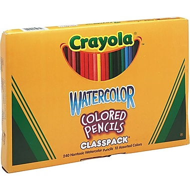 Crayola® Watercolor Pencils 12-Color Classpack, 240/Pack
