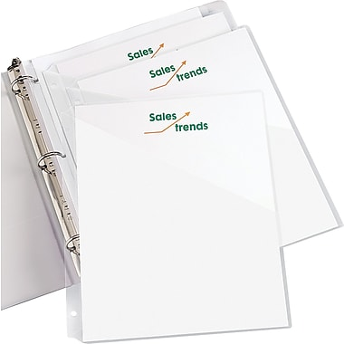 Staples® Clear Binder Pockets