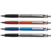 Staples® Revu™ Retractable Ballpoint Pen, Bold Point, Assorted, 4/Pack