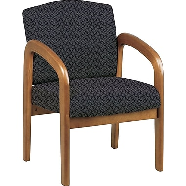 Office Star® Custom Oak Wood Visitor's Chair, Ash