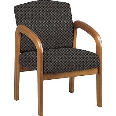 Office Star® Custom Oak Wood Visitor's Chair, Shale