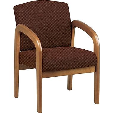 Office Star® Custom Oak Wood Visitor's Chair, Wine