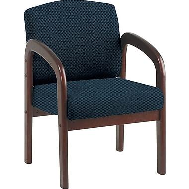 Office Star Custom Mahogany Wood Visitor's Chair, Blue Galaxy
