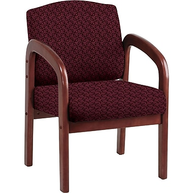 Office Star Custom Cherry Wood Visitor's Chair, Inferno