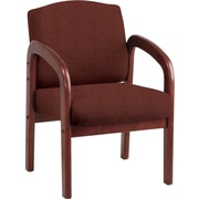 Office Star Custom Cherry Wood Visitor's Chair, Wine