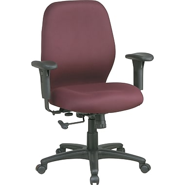Office Star Fabric Mid-Back 2- to-1 Synchro-Tilt Manager's Chair, Burgundy