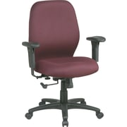 Office Star Mid-Back Fabric Manager's Chair, Adjustable Arms, Burgundy