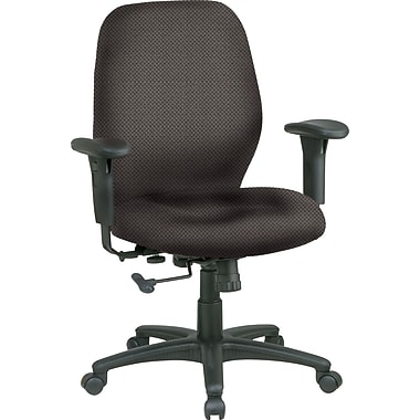 Office Star™ Fabric Managers Office Chair, Shale, Adjustable Arm (3121-295)