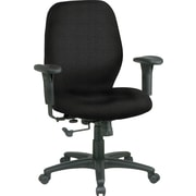Office Star™ Custom Mid-Back Chair, Jet