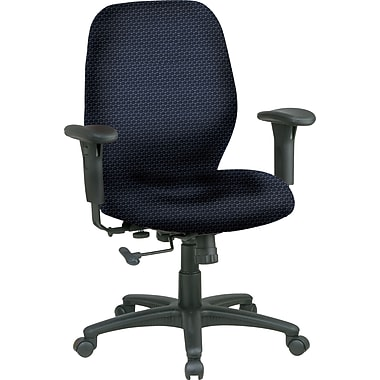 Office Star® Custom Mid-Back Chair, Midnight Blue