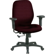 Office Star™ Custom Mid-Back Chair, Ruby