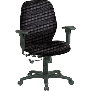 Office Star® Custom Mid-Back Chair, Graphite