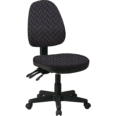 Office Star Custom Ergonomic Armless Chair, Ash