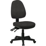 Office Star Custom Ergonomic Armless Chair, Shale