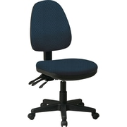 Office Star Custom Ergonomic Armless Chair, Blue Galaxy