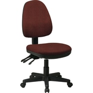 Office Star Custom Ergonomic Armless Chair, Wine