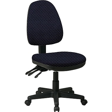 Office Star Custom Ergonomic Armless Chair, Midnight Blue