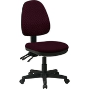 Office Star Custom Ergonomic Armless Chair, Ruby