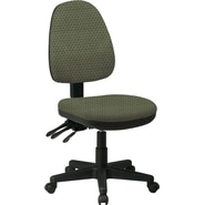 Office Star Custom Ergonomic Ratchet Back Armless Chair, Moss