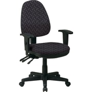 Office Star Custom Ergonomic Chair with Adjustable Arms, Ash