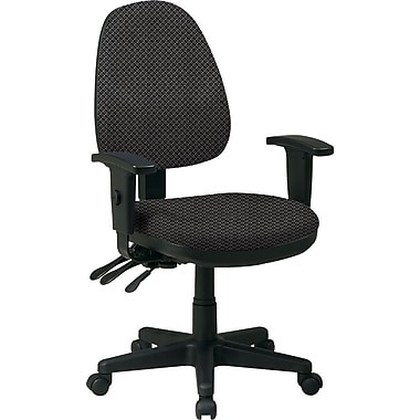 Office Star Custom Ergonomic Chair with Adjustable Arms, Shale