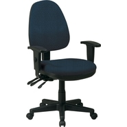 Office Star Custom Ergonomic Chair with Adjustable Arms, Blue Galaxy