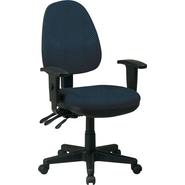 Office Star Custom Ergonomic Chair with Adjustable Arms, Blue Galaxy