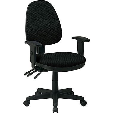 Office Star Custom Ergonomic Chair with Adjustable Arms, Jet