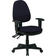 Office Star Custom Ergonomic Chair with Adjustable Arms, Midnight Blue
