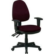 Office Star Custom Ergonomic Chair with Adjustable Arms, Ruby