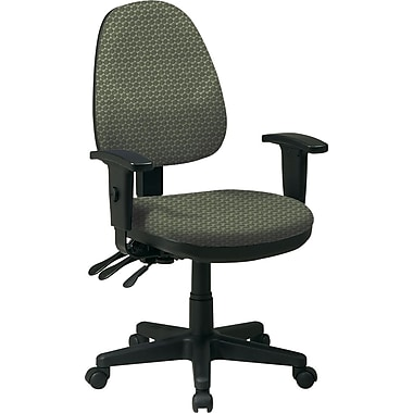 Office Star Custom Ergonomic Chair with Adjustable Arms, Moss