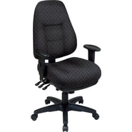 Office Star® Super Ergonomic High-Back Chair, Ash