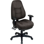Office Star® Super Ergonomic High-Back Chair, Shale