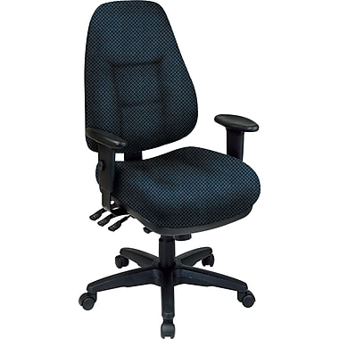 Office Star® Super Ergonomic High-Back Chair, Blue Galaxy