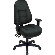 Office Star® Super Ergonomic High-Back Chair, Jet