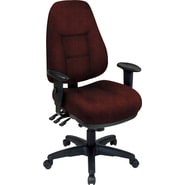 Office Star® Super Ergonomic High-Back Chair, Wine