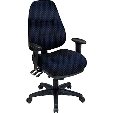 Office Star® Super Ergonomic High-Back Chair, Midnight Blue