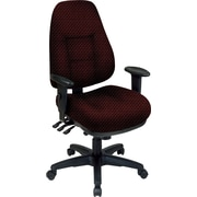 Office Star® Super Ergonomic High-Back Chair, Ruby