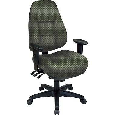 Office Star® Super Ergonomic High-Back Chair, Moss