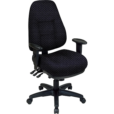 Office Star® Super Ergonomic High-Back Chair, Graphite