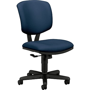 HON® Volt® H5701 Series Mid-Back Armless Fabric Task Chair, Navy