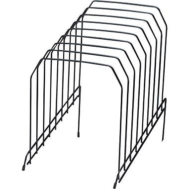 Staples® Metal Incline Desktop File Sorter, 8 Compartments, Black
