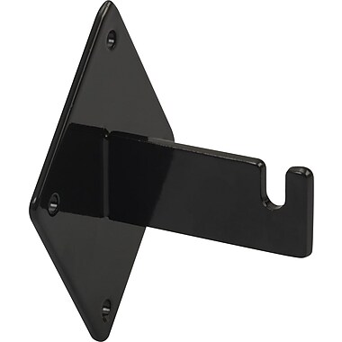 Notched Wall Mount Bracket for Gridwall, Black