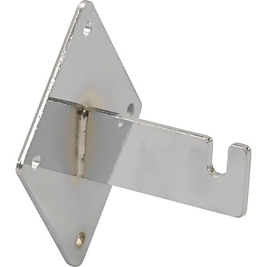 Notched Wall Mount Bracket for Gridwall, Chrome