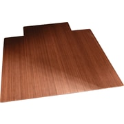 Anji Mountain Roll-Up 48''x35.63'' Bamboo Chair Mat for Carpet, Rectangular w/Lip, Dark Cherry (AMB24004)