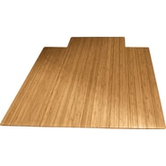 Anji Mountain Roll-Up Bamboo Chair Mat, Standard Lip, 36in. x 48in. , Natural
