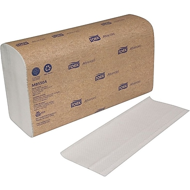Tork® Recycled Multifold Paper Towels, White, 1-Ply, 4,000/Case