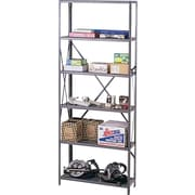 "Tennsco Industrial Steel Shelves Only, 6 Shelves, Dark Gray, 87""H x 48""W x 12""D"