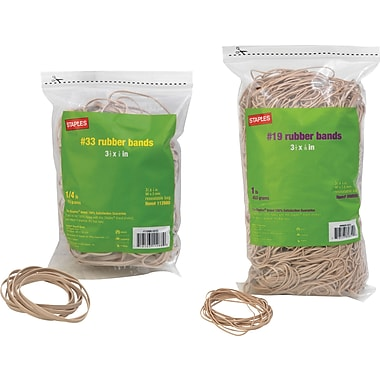 Staples® Economy Rubber Bands, Size #33
