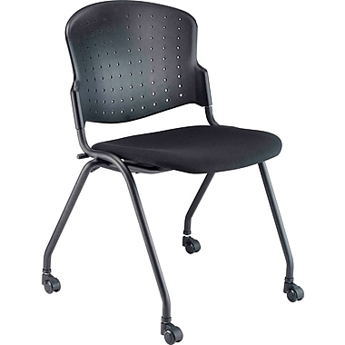 Balt Nester Stacking Chairs, Upholstered Seat, 2/Pack